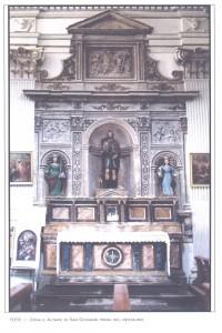 L'altare S.Rocco (un tempo San Giovanni) prima del restauro