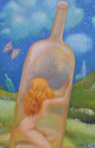 Solitudine, olio su tela, 60x70 cm, 1988