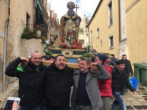 Processione Sant'Antonio Abate 2017 per il centro storico